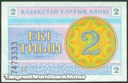 TWN - KAZAKHSTAN 2a - 2 Tyin 1993 Series БE UNC - Kazakistan