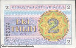TWN - KAZAKHSTAN 2a - 2 Tyin 1993 Series БГ UNC - Kazakistan