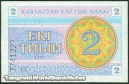 TWN - KAZAKHSTAN 2c - 2 Tyin 1993 Series БГ UNC - Kazakistan