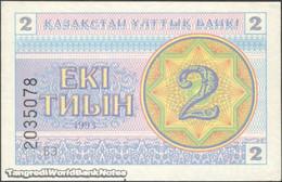 TWN - KAZAKHSTAN 2c - 2 Tyin 1993 Series БЗ UNC - Kazakistan
