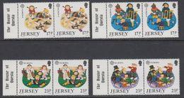 """Europa Cept 1989  Jersey 4v (pair, Margin """"House Of Questa"""") ** Mnh (42614A) - 1989"""