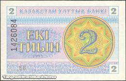TWN - KAZAKHSTAN 2d - 2 Tyin 1993 Series БВ UNC - Kazakistan