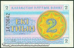 TWN - KAZAKHSTAN 2d - 2 Tyin 1993 Series БД UNC - Kazakistan