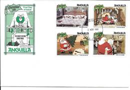 ANGUILLA 1981 FDC PREMIER JOUR DISNEY NOEL LA NUIT AVANT NOEL - Disney