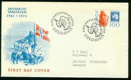 FD Norway FDC 1971 MiNr 629, Antarctic Treaty Roald Amundsen - FDC