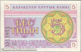 TWN - KAZAKHSTAN 3a - 5 Tyin 1993 Series ВЕ UNC - Kazakistan