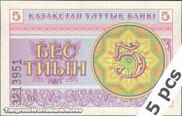 TWN - KAZAKHSTAN 3a - 5 Tyin 1993 DEALERS LOT X 5 - Series ВЕ UNC - Kazakistan