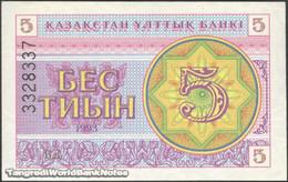 TWN - KAZAKHSTAN 3b - 5 Tyin 1993 Series ВД UNC - Kazakistan