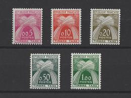 FRANCE.  YT  Timbres Taxe  N° 90/94  Neuf **  1960 - Segnatasse