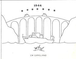 "CM GARIGLIANO   1944 -M617 - ""LES OFFICIERS MARINIER DU CHASSEUR DE MINES ""GARIGLIANO"" VS SOUHAITENT VOEUX ...1980"" - Documenten"