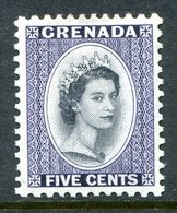 Grenada 1953-59 QEII Definitive - 5c Deep Violet HM (SG 197) - Grenada (...-1974)