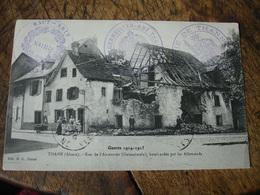 1916 Mairie  Thann Haut Rhin Cachet Francais Et Allemand   Cachet Franchise Postale Militaire Guerre 14.18 - Marcofilie (Brieven)