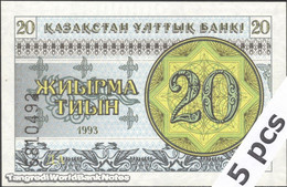 TWN - KAZAKHSTAN 5a - 20 Tyin 1993 DEALERS LOT X 5 - Series ДА UNC - Kazakistan