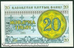 TWN - KAZAKHSTAN 5a - 20 Tyin 1993 Series ДB UNC - Kazakistan