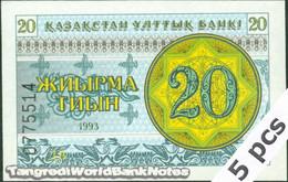 TWN - KAZAKHSTAN 5a - 20 Tyin 1993 DEALERS LOT X 5 - Series ДВ UNC - Kazakistan