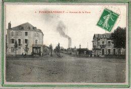 CPA - FOURCHAMBAULT (58) - Aspect De L'Hôtel Des Forges De L'avenue De La Gare En 1916 - Other Municipalities