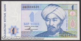TWN - KAZAKHSTAN 7a - 1 Tenge 1993 Prefix AM UNC - Kazakistan