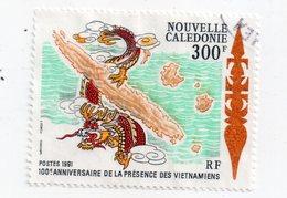 Env 1 : Nouvelle Caledonie Stamp Timbre Oblitéré 100ème Anniveraire De La Présence Des Vietnamiens - Usati
