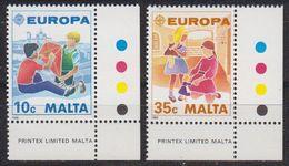 Europa Cept 1989 Malta 2v (corner, Traffic Lights) ** Mnh (42615A) - 1989