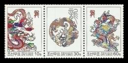 North Korea 2012 Mih. 5846/48 Year Of The Dragon MNH ** - Korea (Nord-)