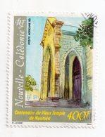 Env 1 : Nouvelle Caledonie Stamp Timbre Oblitéré Centenaire Vieux Temple De Nouméa - Neukaledonien