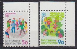 Europa Cept 1989 Liechtenstein 2v (corners) ** Mnh (42615B) - 1989