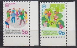 Europa Cept 1989 Liechtenstein 2v (corners) ** Mnh (42615C) - 1989