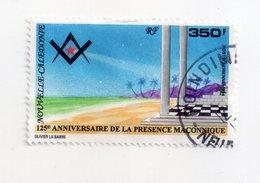 Env 1 : Nouvelle Caledonie Stamp Timbre Oblitéré 125 ème Anniversaire De La Présence Maconique - New Caledonia