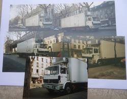 RENAULT BERLIET FRIGORIFIQUE - LOT 5 PHOTOS PRISES A PARIS - RVI - Camions