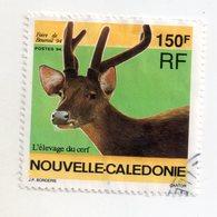 Env 1 : Nouvelle Caledonie Stamp Timbre Oblitéré Foire De Bourail 94 L'élevage De Cerf - Usati