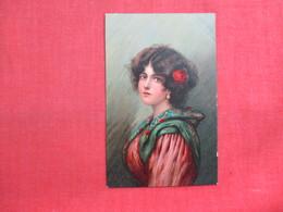 Stengel Card-- Signed Artist  Female  Ref 3324 - Fashion