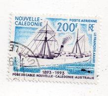 Env 1 : Nouvelle Caledonie Stamp Timbre Oblitéré Pose Du Cable Entre L'australie - Neukaledonien