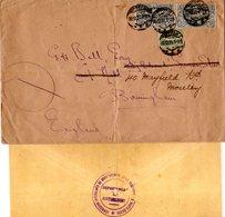 Oberschlesien 1920, 40+2x50 Pf. Auf Allierten-Commission Brief V. Oppeln N. GB - Germania