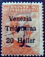 Trentin Occupation Italie Italy Italia Surchargé Overprint Soprastampati Venezia Tridentina 1918 Yvert 30 O Usato - Trentino