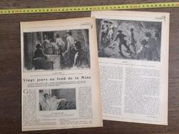 1906 20 JOURS AU FOND DE LA MINE VICTOR MARIN CATASTROPHE COURRIERES A LA GOUTTE DE LAIT BILLY MONTIGNY - Collections