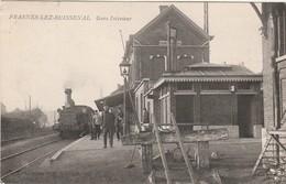 2. FRASNES LEZ BUISSENAL Prés De Hacquegnies Et Moustier.  La Station GARE Avec Locomotive Train.  Postée 1908. - Belgique