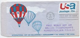 Hot Air Ballooning - Mass Ascension, 1973, Aerogramme - Entiers Postaux