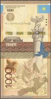 TWN - KAZAKHSTAN 45a - 1000 1.000 Tenge 2014 Prefix АГ UNC - Kazakistan