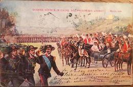 GRANDE RIVISTA IN ONORE DEL PRESIDENTE LOUBET - APRILE 1904, Timbre, écrite - Italy