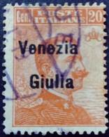 Vénétie Occupation Italie Italy Italia Surchargé Overprint Soprastampati Venezia Giulia 1919 Yvert 23 O Usato - 8. Besetzung 1. WK
