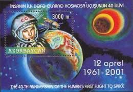 Azerbajan (Azerbaijan Azerbaïdjan) 2001. 40th Anniversary Of First Manned Space Flight. Gagarin. Mi# 497-498  MNH - Azerbaiján