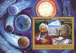 Azerbajan (Azerbaijan Azerbaïdjan) 2001. Nasiraddin Tusi. Scientist And Philosopher. Space. Mi# Block46 (500)  MNH - Azerbaiján