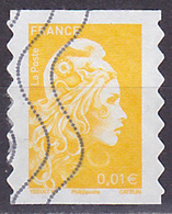 Timbre AA Oblitéré N° 1594(Yvert) France 2018 - Marianne L'Engagée 0,01 € Adhésif - 2018-... Marianne L'Engagée