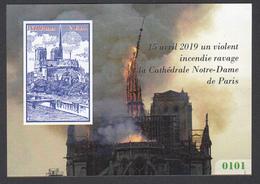 Notre-Dame De Paris, Cinderella, Fire - Vignetten (Erinnophilie)