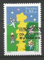 Polen / Polska  2000  Mi.Nr. 3829 , EUROPA CEPT - Kinder Bauen Sternenturm - Gestempelt / Fine Used / (o) - Europa-CEPT
