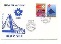 VATICAN FDC 1970 EXPO UNIVERSELLE OSAKA JAPON - 1970 – Osaka (Japon)