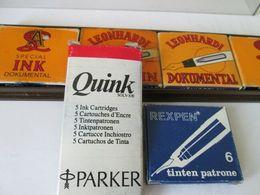 PARKER, REXPEN, LEONHARDI, VINTAGE INK CARTRIDGES - Plumes
