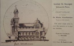 Wolume-St.-Pierre Institut St.Georges Projet D'église Marie Auxiliatrice Architecte Delune Coin Sup Dr. Légèrement Plié - St-Pieters-Woluwe - Woluwe-St-Pierre