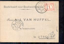 Utrecht - Boekhandel - A J Van Huffel - 1905 - 1891-1948 (Wilhelmine)