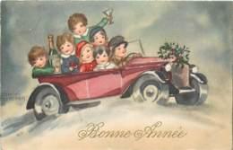 Illustration De Hannes PETERSEN , Voiture/auto Fantaisie Enfants , * 425 05 - Petersen, Hannes